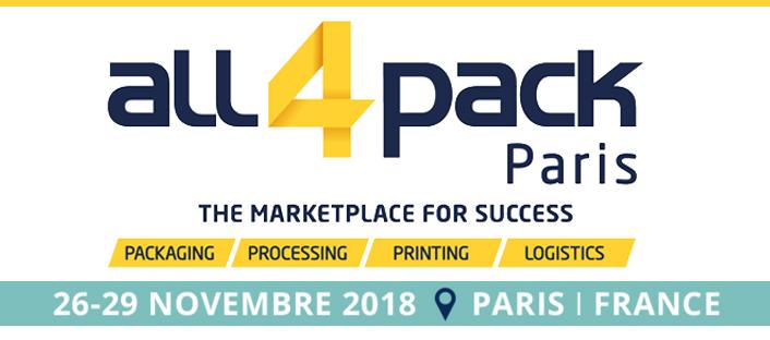 Salon All4Pack 26-29 nov.2018